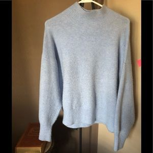 Baby blue cozy oversized sweater.